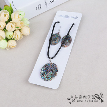Natural crafts creative accessories all-match sweater chain abalone Pendant Necklace