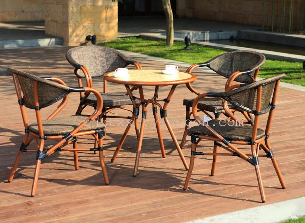 Starbucks Furniture Rattan Tables And Chairs 53 Piece Cast Iron Outdoor  Leisure Chairs And Coffee Tables