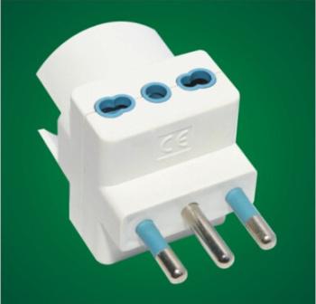 Italian outlet plug Italy to European 16A Italian style plug