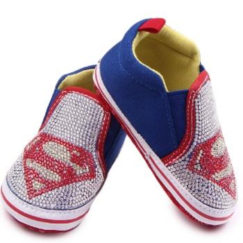 帆布带钻超人 婴儿鞋 宝宝鞋 学步鞋
