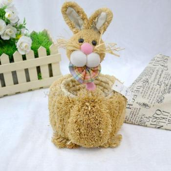 Easter decoration decoration crafts handmade straw egg storage basket