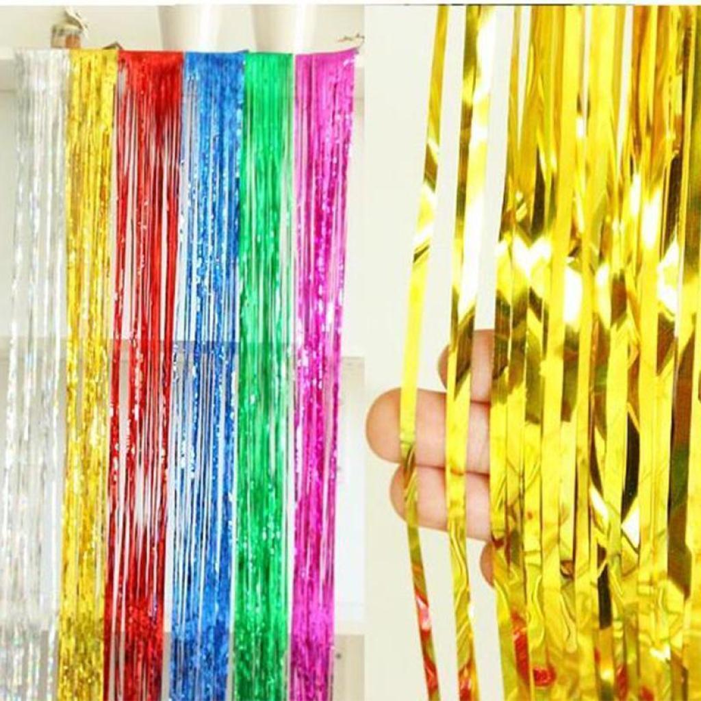 特厚2米长雨丝帘 婚庆喜庆用品派对装饰拉花