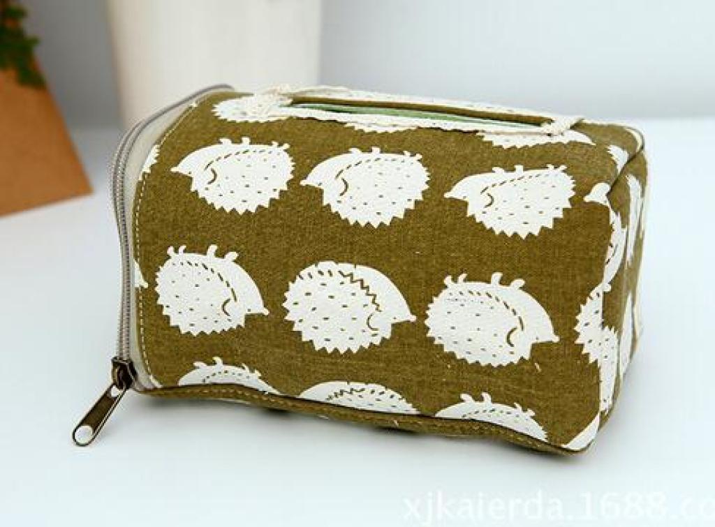 新款热卖布艺纸巾盒高档室内装饰餐巾盒 创意家居刺猬