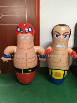 PVC inflatable toys muscle inflatable tumbler tumbler boxer 90cm