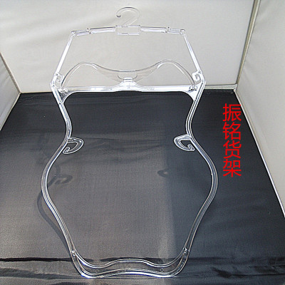 Factory direct transparent plastic swimming hangers Mall swimsuit bathing suit hangers
