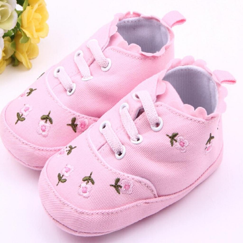 牛仔布绣花 婴儿鞋 宝宝鞋 学步鞋