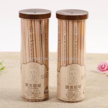 Log pencil drawing pencil exam non-toxic bottled wooden student cartoon pencil wholesale stationery stationery