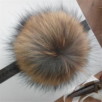 Factory direct raccoon hair ball hanging bag car key accessories DIY raccoon fur ball mouse hair ball