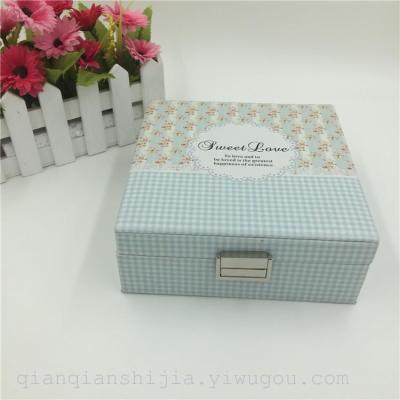 Korean version of the high-end jewelry boxes, necklaces, earrings, bracelets, watches, jewelry boxes