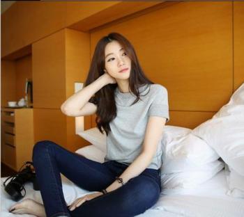 Korean female jeans slim slim pencil pants ladies denim trousers