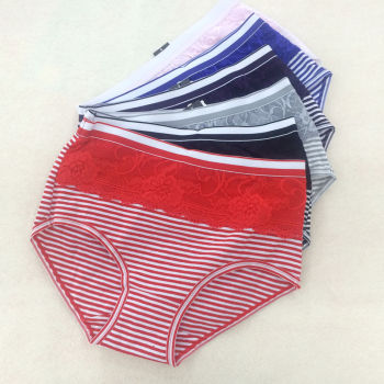 Wholesale lady briefs waist Underwear Size in cotton in the elderly