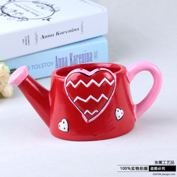 Valentine's Day series of creative arts and crafts desktop decoration flowerpot potted plants.