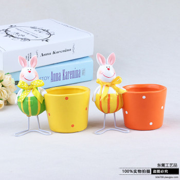 The ceramic flowerpot decoration decoration crafts and gifts of Easter flower