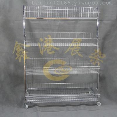 L boutique four layer four layer storage basket basket shelf display floor boutique
