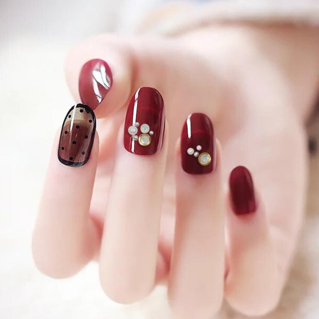 个性diy指甲贴美甲装饰品批发 贴钻铆钉美甲贴
