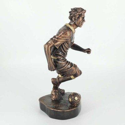 Sports series of resin crafts creative football trophy bronze resin decoration crafts wholesale