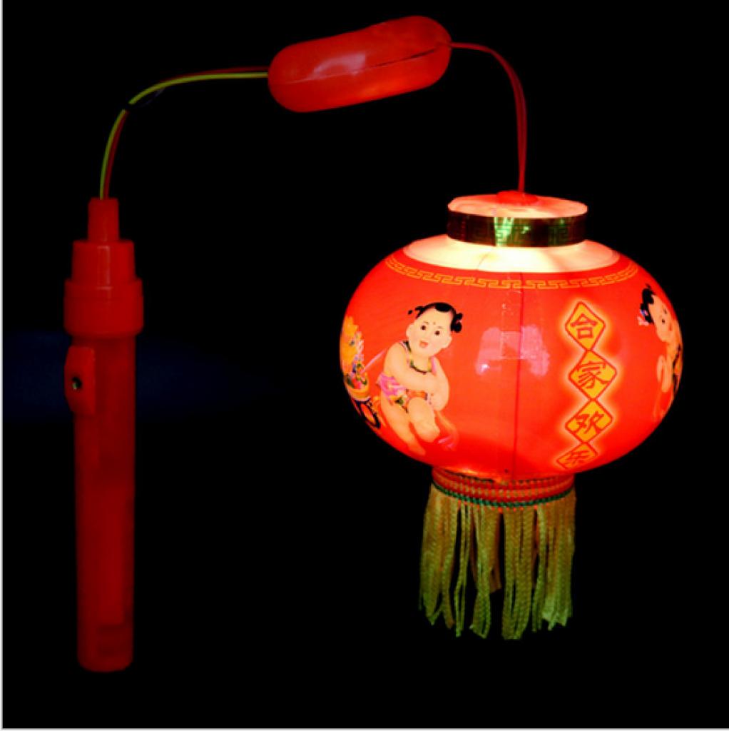 中秋节元宵儿童塑料发光卡通手提灯笼婚庆广告小灯笼