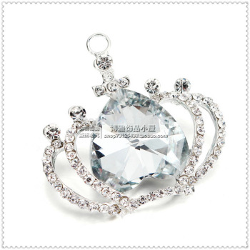 Crown Princess Diamond Necklace Pendant Fashion Sweater Chain Keychain bags accessories