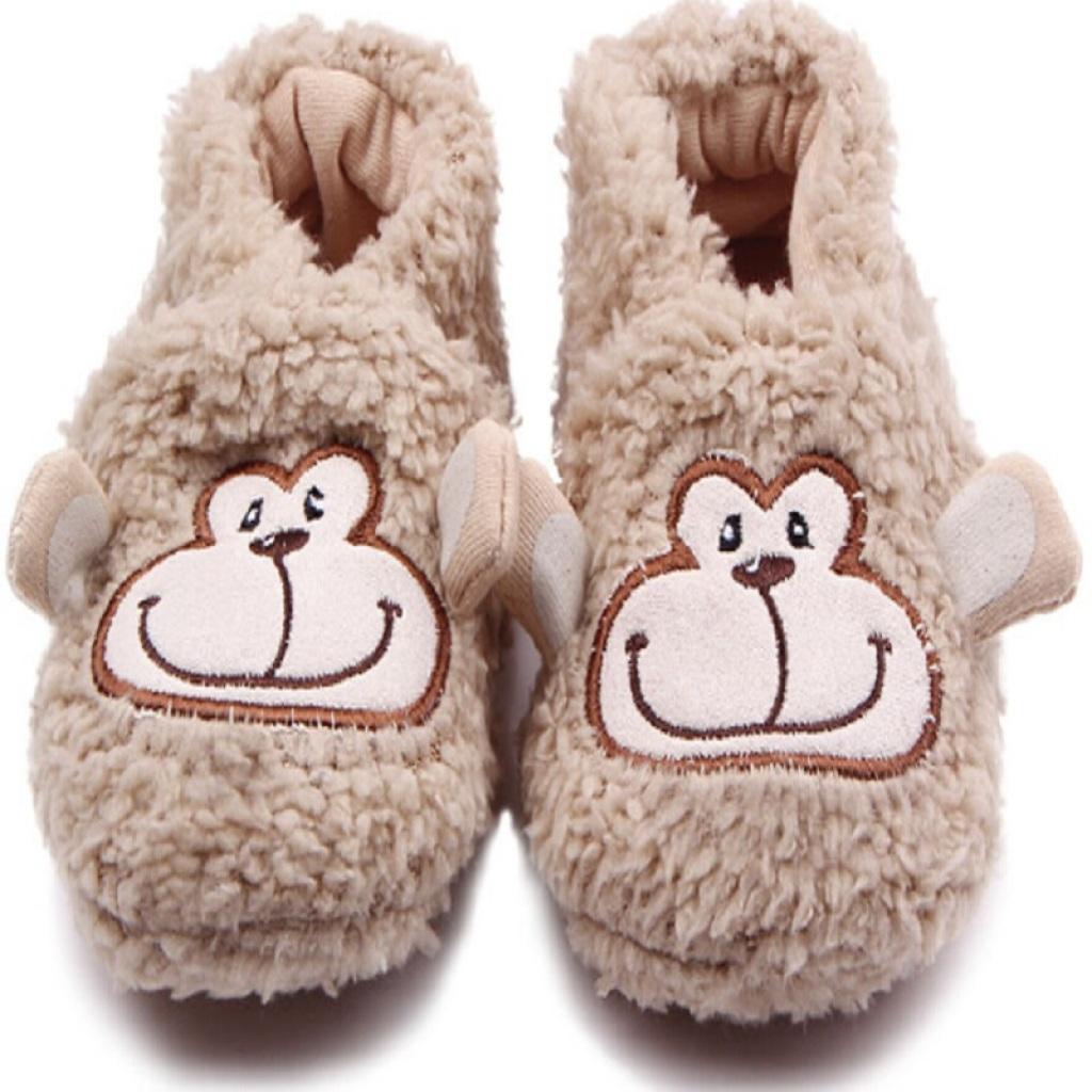 珊瑚绒卡通婴儿鞋 宝宝鞋 学步鞋 不掉鞋