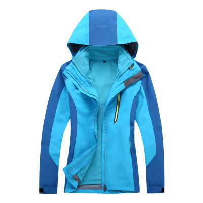Factory direct sale of men and women in winter two sets of three in one suit clothing warm waterproof