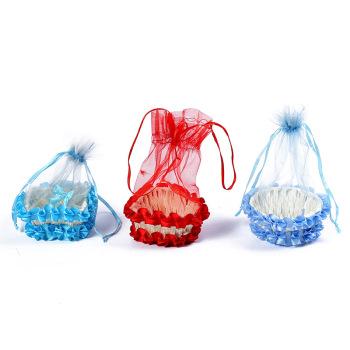 日用百货收纳篮创意蕾丝家居装饰摆件展示陈列篮摆件
