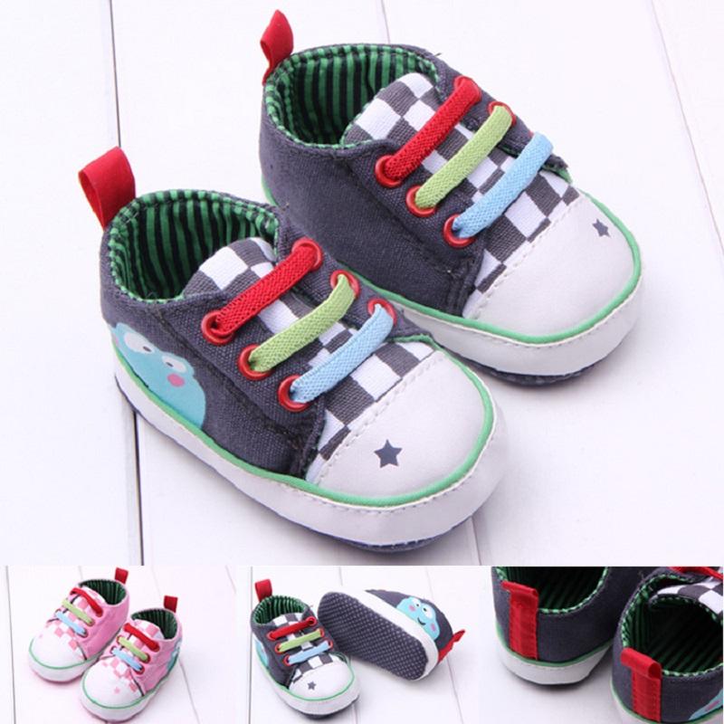 春款三色系鞋帶印青蛙 嬰兒鞋 寶寶鞋 學步鞋_米悅鞋圖片