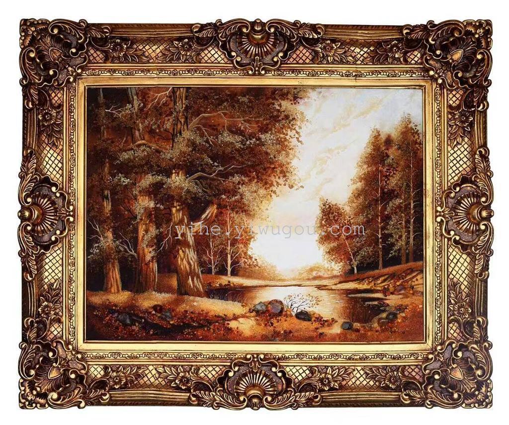 厂家出口欧式相框批发 婚庆道具 油画框 镜框 连体角画框