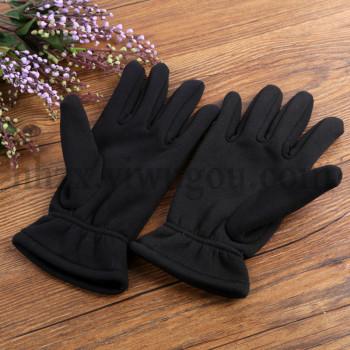 Winter thickening with velvet gloves parade black gloves police etiquette dancing gloves