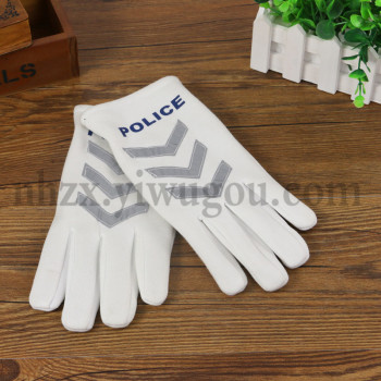 Warm male and female traffic security command the thick cotton winter reflective gloves