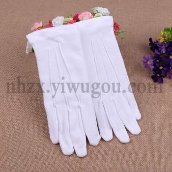 Children's etiquette in the deduction of children's etiquette gloves to perform dancing white gloves M5028