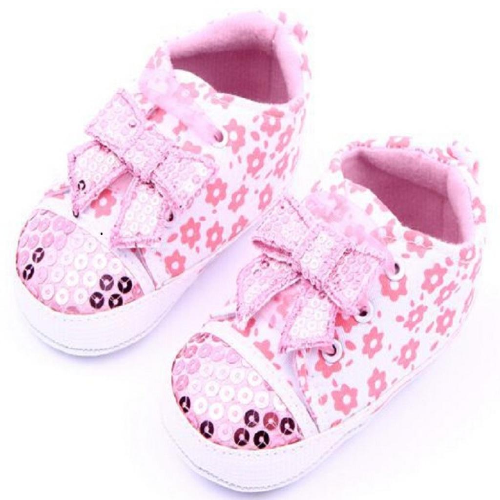 蝴蝶结珠片婴儿鞋 宝宝鞋 学步鞋