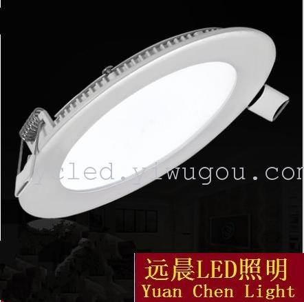 LED灯18W24W面板灯暗装圆形面板灯