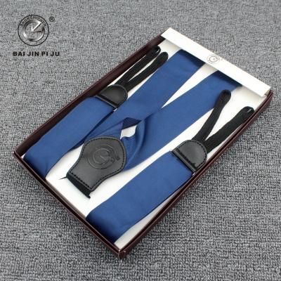 Clockwise 3.7 Y satin ribbon strap fashion suspenders factory direct sales