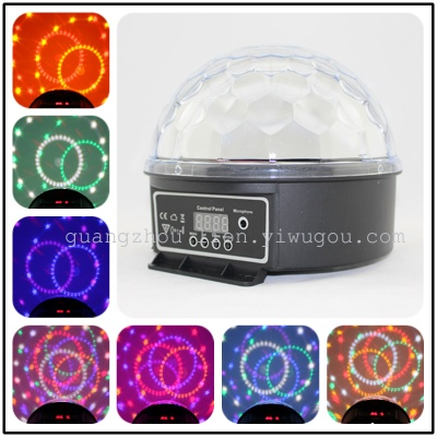 Factory direct sales stage light LED lamp 6 color 1W digital crystal ball