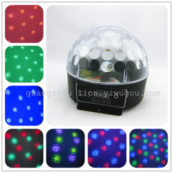 Factory outlet stage light LED lamp 3 color pattern digital crystal ball