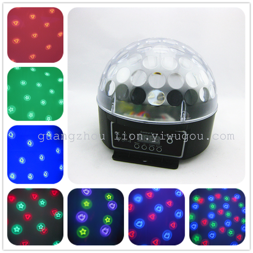 Factory outlet stage light LED lamp 3 color pattern digital crystal ball