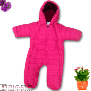 Baby baby clothes have been warm winter jacket newborn romper suit bag feet climbing clothes