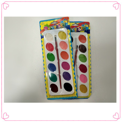 12 color semi dry water color: watercolor painting children graffiti painting watercolor painting