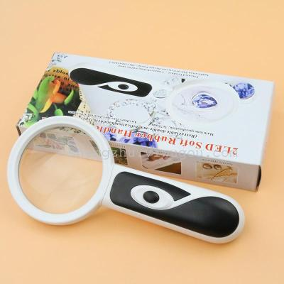 7B-5A handheld reading magnifying glass with 2LED lamp to read the magnifying glass manufacturers to put wholesale