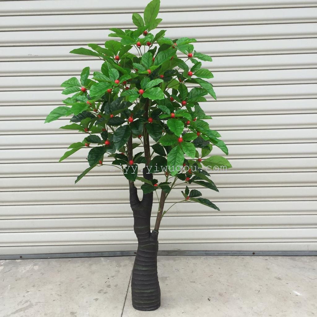 室内仿真果子树装饰塑料假树1.6米小罗汉五福临门