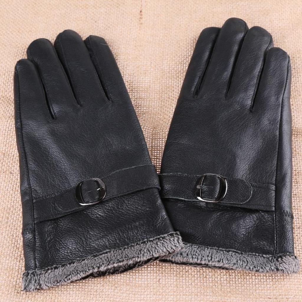 Mens gloves fashion - Men S Leather Gloves Leather Gloves Fashion Deerskin Gloves Thick Warm In Winter