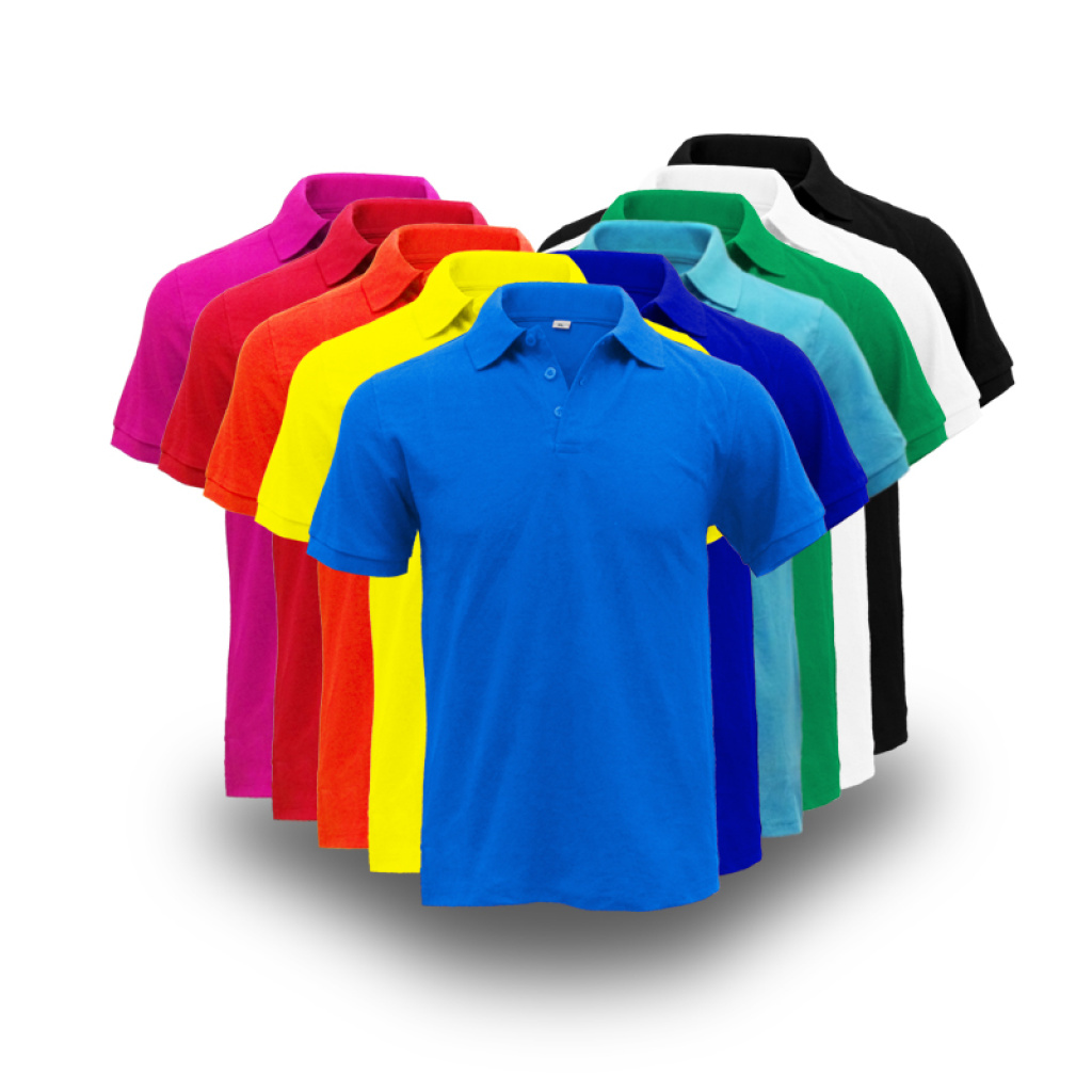 Supply 230 Grams Of Lapel T Shirt Customized Corporate Uniforms Wear
