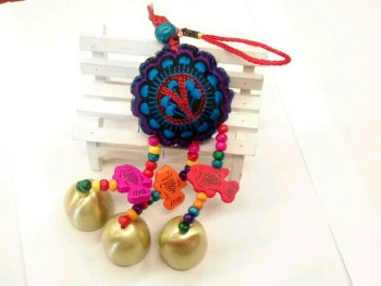 China knot embroidery Campanula ornaments, metal copper bell bell bell, national characteristics
