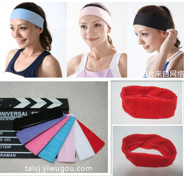 yoga exercise headband hair band headband material quality cotton candy  colored headband 0615610ea31