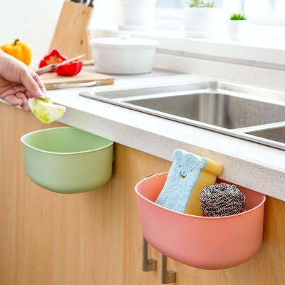 Kitchen cabinet door hanging type large trash can European style open plastic storage box sundry can