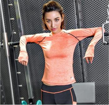 The autumn of 2016 the new women's long sleeved sportswear color yoga clothing