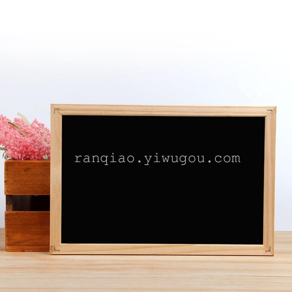 冉桥儿童教学道具热卖 高质软木小黑板 木制双面留言板