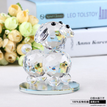 Crystal ornaments jewelry puppy creative gift wedding room decoration decoration Festival birthday gift