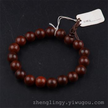 The best-selling printed leaf sandalwood beads on Venus hand old material of high density ebony beads Bracelets