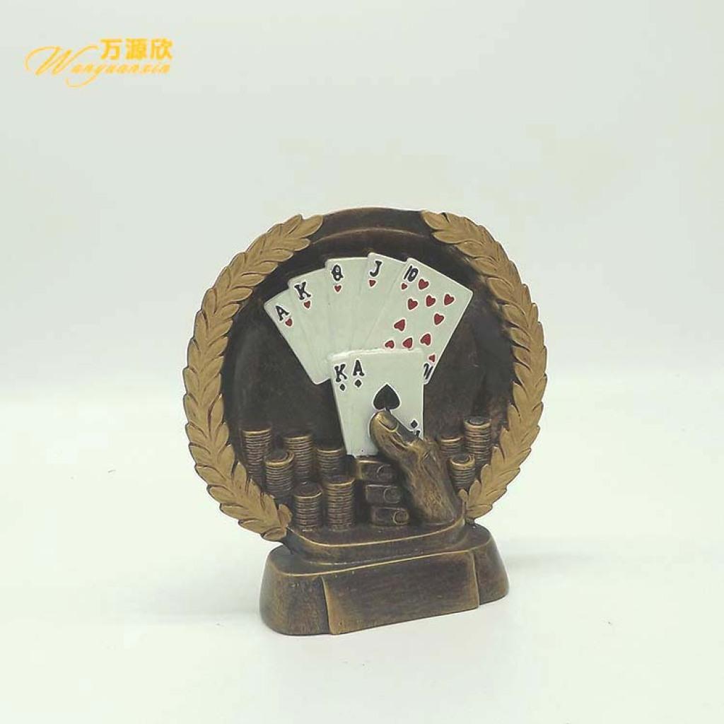 Supply Gucci Dezhou Poker Landlords Game Medal Resin Handicrafts